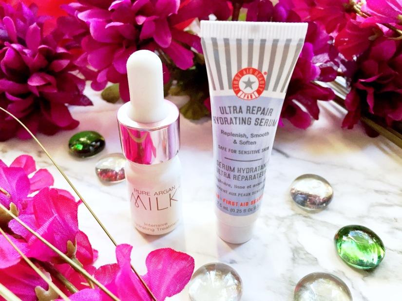 Josie Maran Pure Argan Milk Intensive Hydrating Treatment + First Aid Beauty Ultra Repair Hydrating Serum