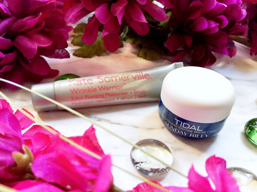 Kate Somerville Wrinkle Warrior 2-in-1 Plumping Moisturizer + Serum + Sunday Riley Tidal Brightening Enzyme Water Cream