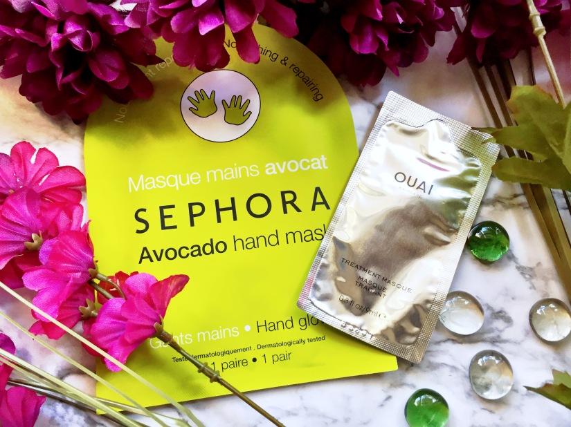 Sephora Collection Avocado Hand Mask + Ouai Treatment Masque
