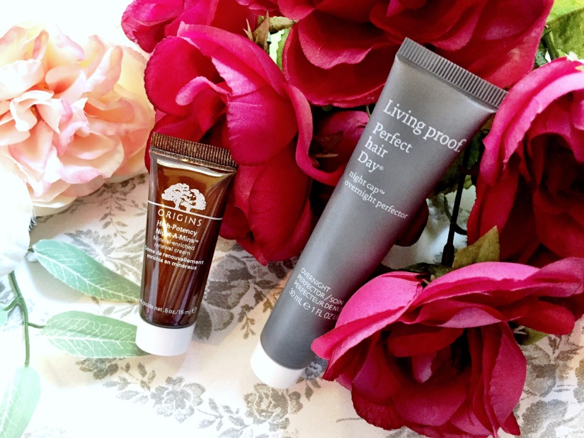 Origins High Potency Night-A-Mins Mineral-Enriched Renewal Cream + Living Proof Perfect Hair Day Night Cap Overnight Perfector