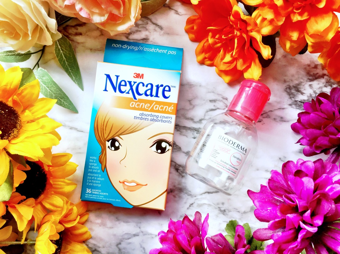 Nexcare Acne Absorbing Covers + Bioderma Sensibio H20 Make-up Removing Micelle Solution