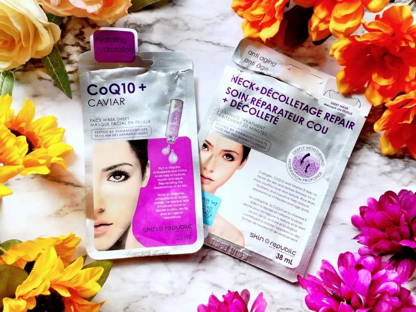 Skin Republic CoQ10 + Caviar Face Mask Sheet + Skin Republic Neck + Décolletage Repair 20 Minute Treatment