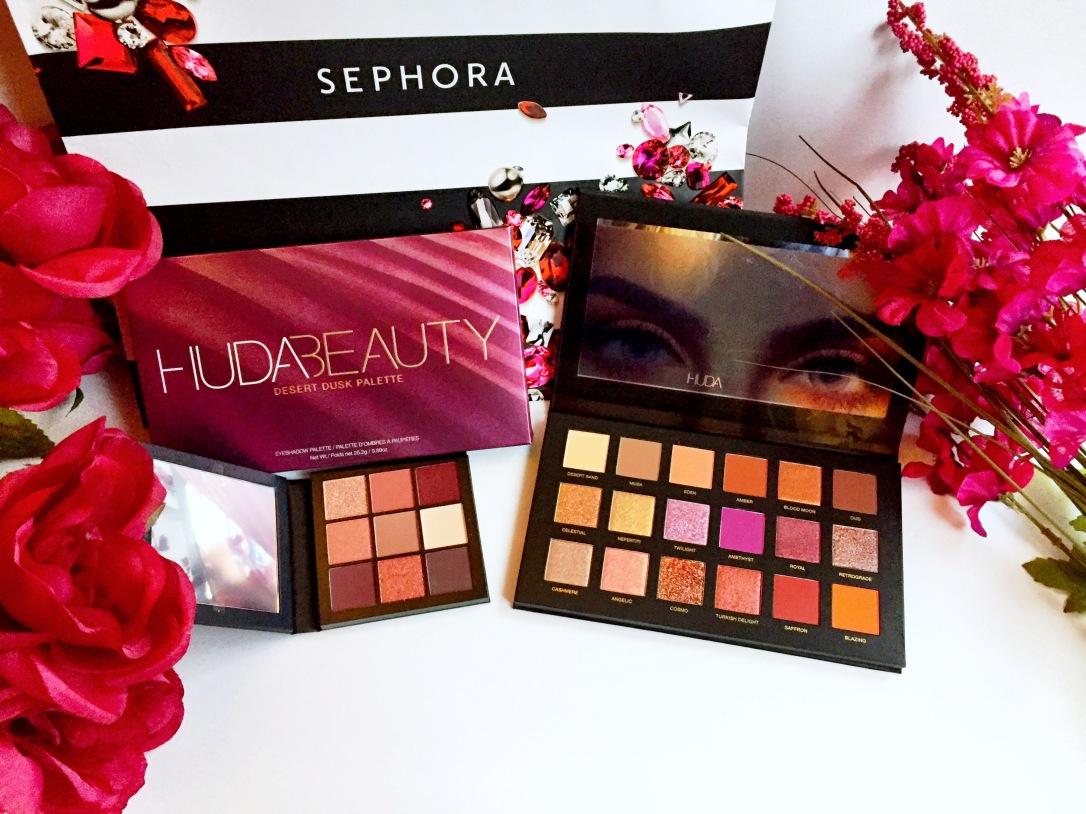 Huda Beauty Desert Dusk Eyeshadow Palette + Huda Beauty Mauve Obsessions Eyeshadow Palette
