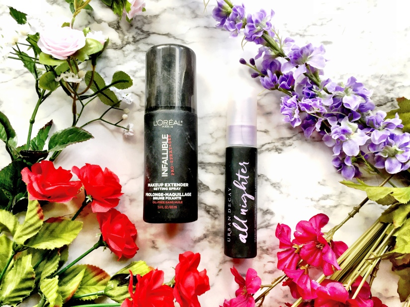 L'Oréal Infallible Pro Spray & Set Makeup Extender Setting Spray + Urban Decay All Nighter Long-Lasting Makeup Setting Spray